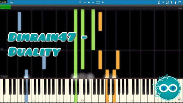 Dimrain47 – Duality Piano Midi Synthesia Cover