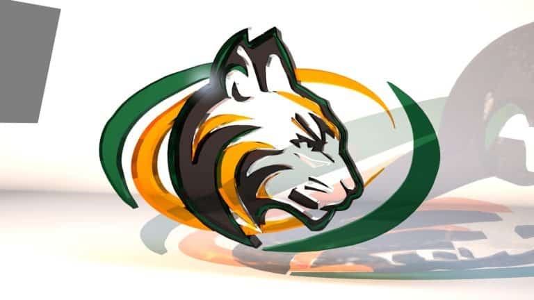 Sage Creek High School Glass Logo Render