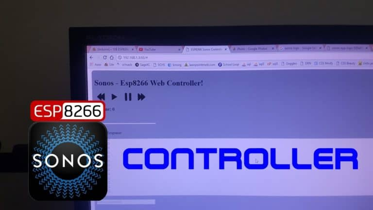 ESP8266 Based SONOS Browser Controller