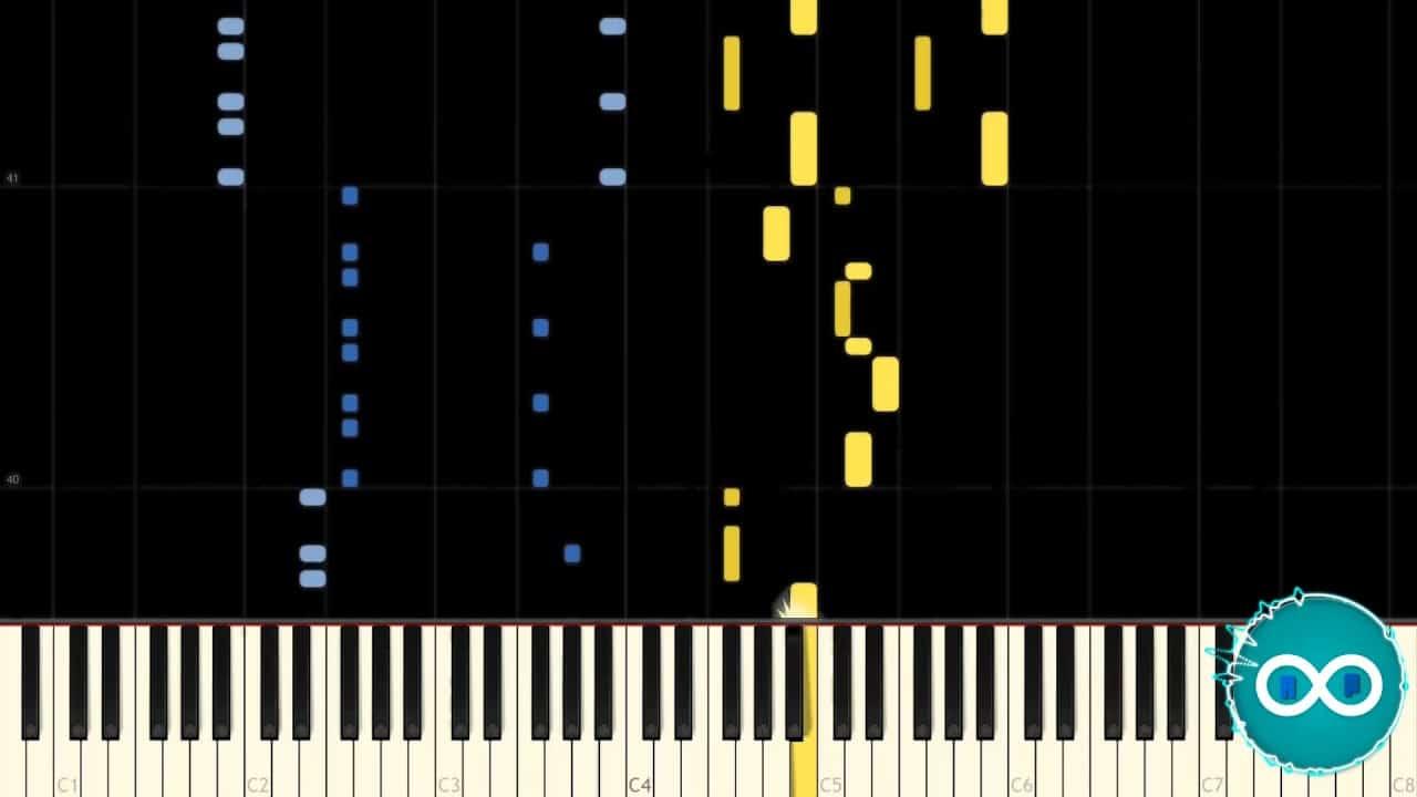 Waterflame – Glorious Morning Piano Midi Synthesia