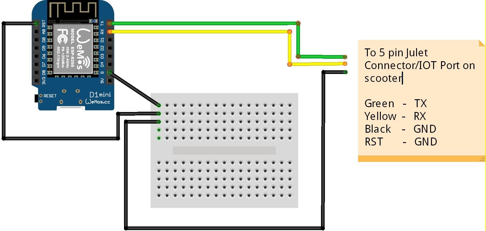 Connecting Ninebot IAP via a Wemos D1 Mini