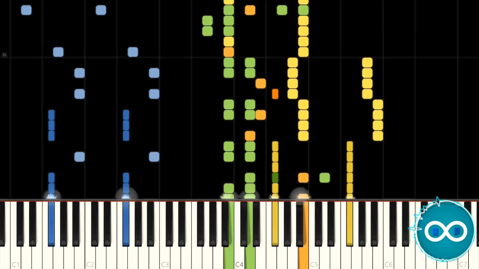 Major Lazer – Get Free piano midi synthesia cover