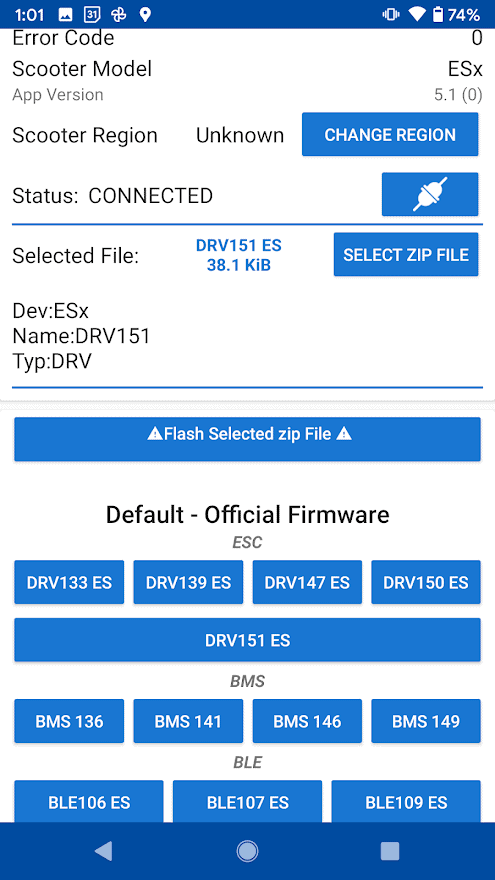 The information for DRV 1.5.1 is displayed.