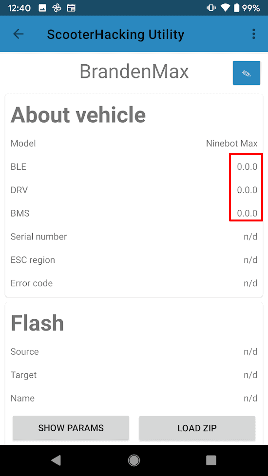 Version numbers that are all zeroes are indicative of a failed connection.